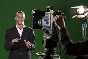 second speaker video on camera in studio Miami