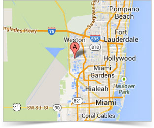 Video Production map Miami area, Pembroke Pines, Fort Lauderdale and Palm Beach