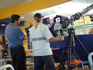 Miami video production crew shoot in progress