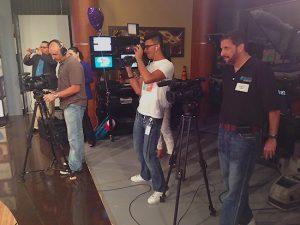 Miami Univision multiple camera live shoot