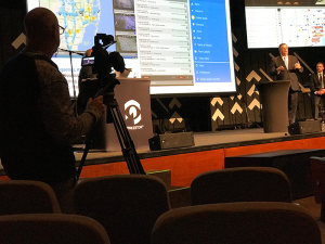 Video Production Company taping a live training session in Miami